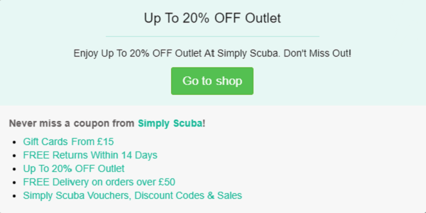 Simply Scuba discount code