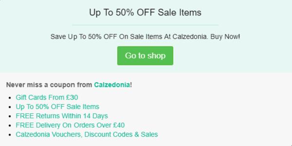 Calzedonia promo code