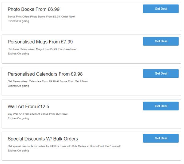 Bonus Print discount codes