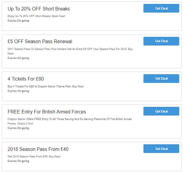 Drayton Manor discounts