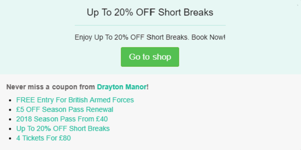 Drayton Manor discount code