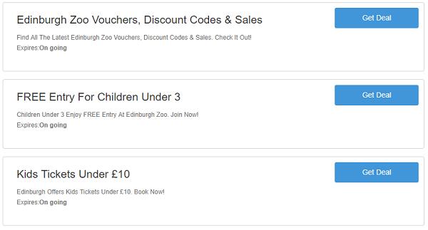 Edinburgh Zoo discount codes