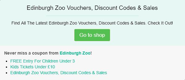 Edinburgh Zoo discount code