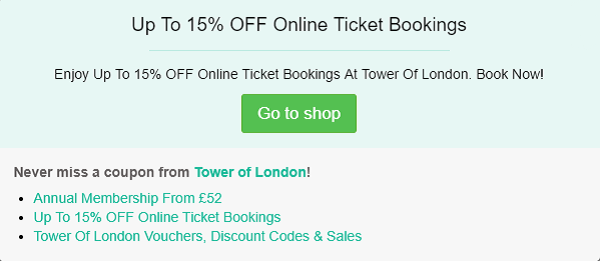 Tower Of London discount code