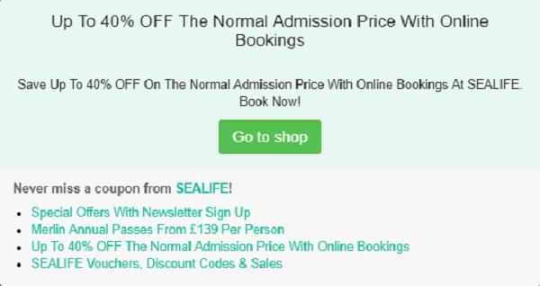 SeaLife voucher code