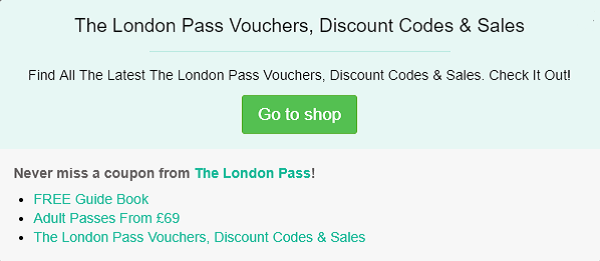 The London Pass voucher code