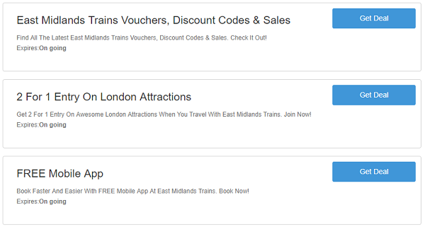 East Midlands Trains discount codes