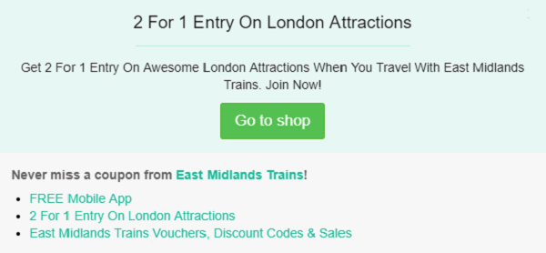 East Midlands Trains discount code