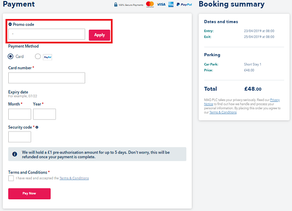 East Midlands Airport parking discount codes