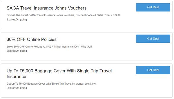 SAGA Travel Insurance discount codes