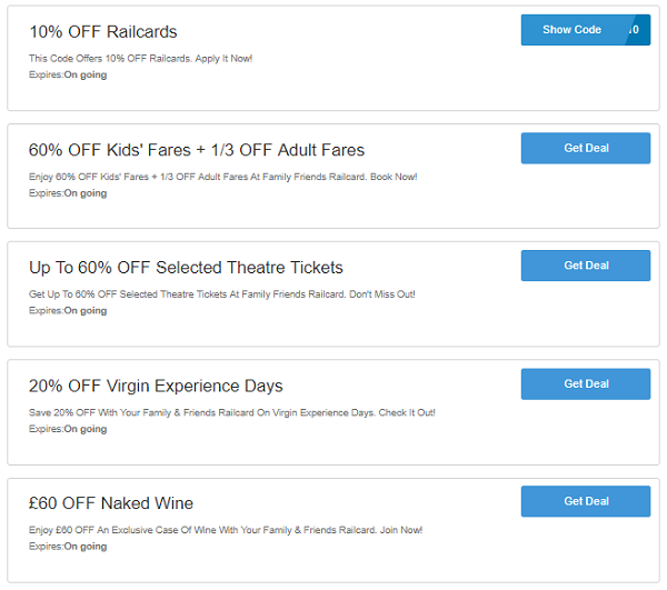 Family and Friends discounts