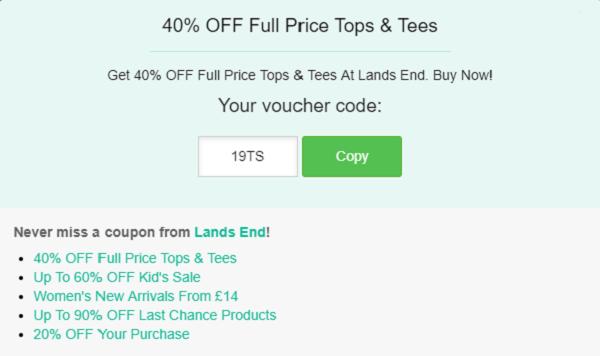 Lands End discount code
