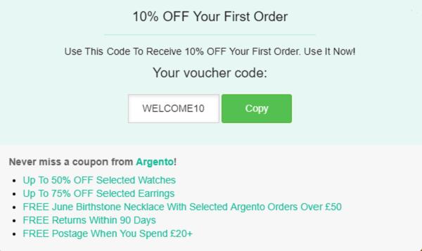 Argento discount code