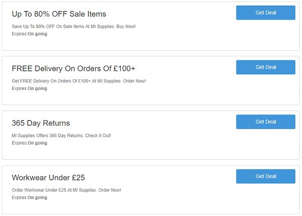 MI Supplies discount codes