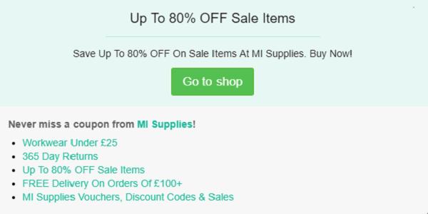 MI Supplies discount code