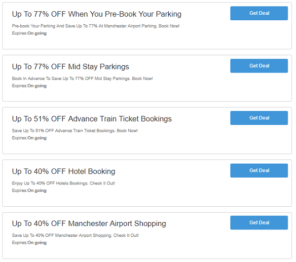 Manchester Airport Parking discount codes