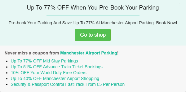 Manchester Airport Parking discount code