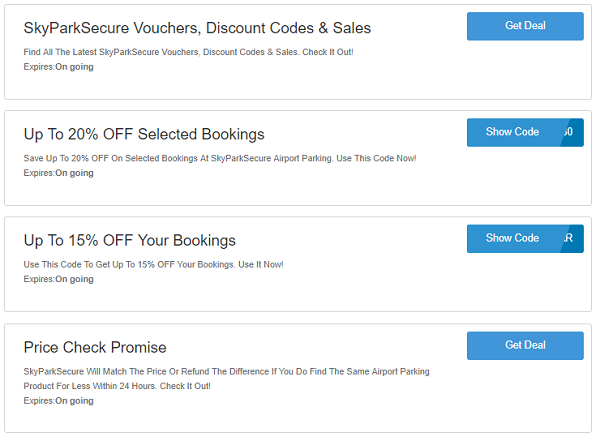 SkyParkSecure discount codes