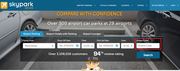 SkyParkSecure parking discount code