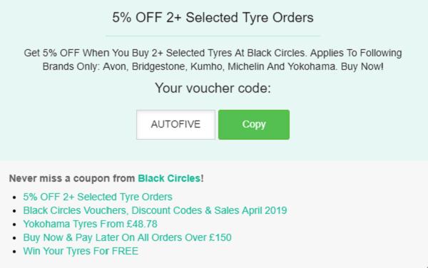 Black Circles discount code
