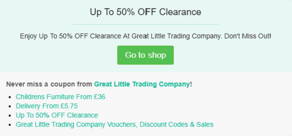 Great Little Trading Company discount code