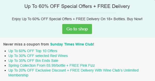 Sunday Times Wine Club voucher code
