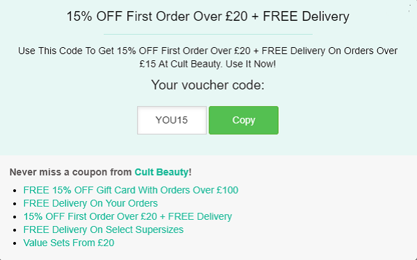 Cult Beauty discount code