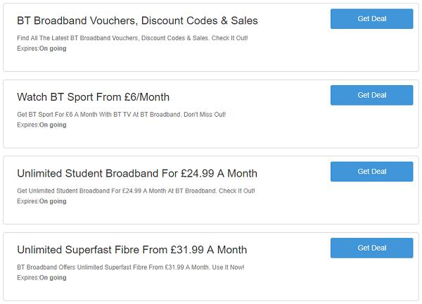 BT Broadband vouchers