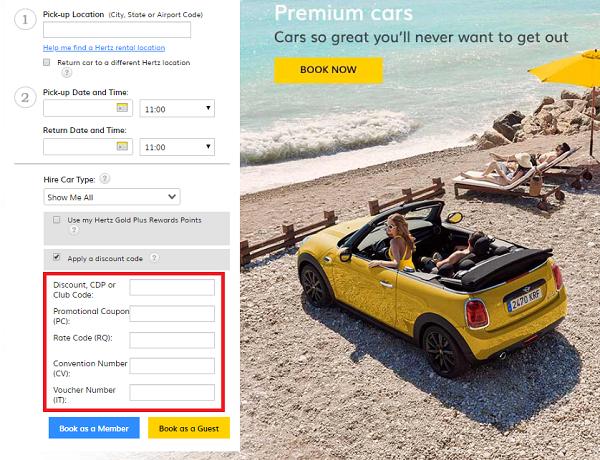 Hertz car hire discount code