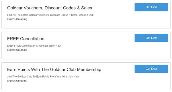 Goldcar promo codes