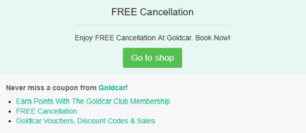 Goldcar promo code