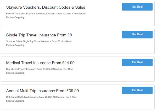Staysure discount codes