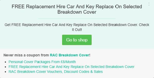 RAC discount codes