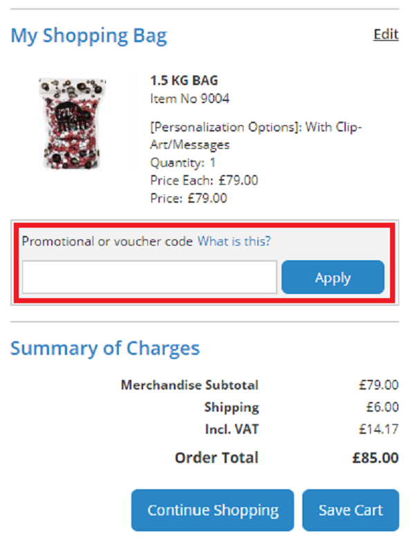 My M and Ms voucher codes