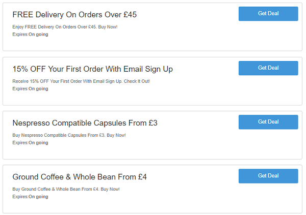 CafePod discount codes
