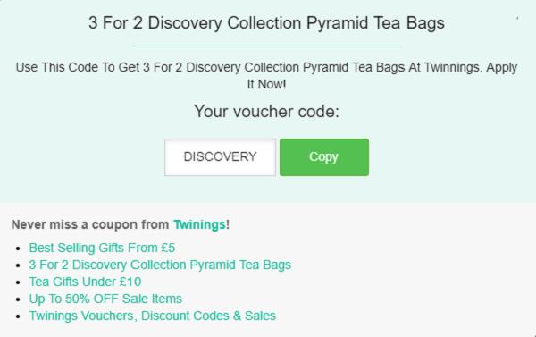 Twinings discount code