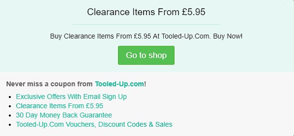 Tooled Up discount code