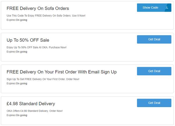 OKA discount codes