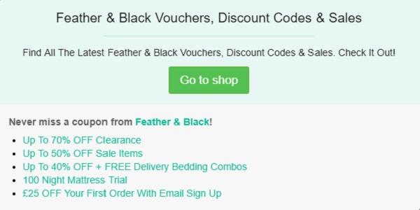 Feather and Black discount codes