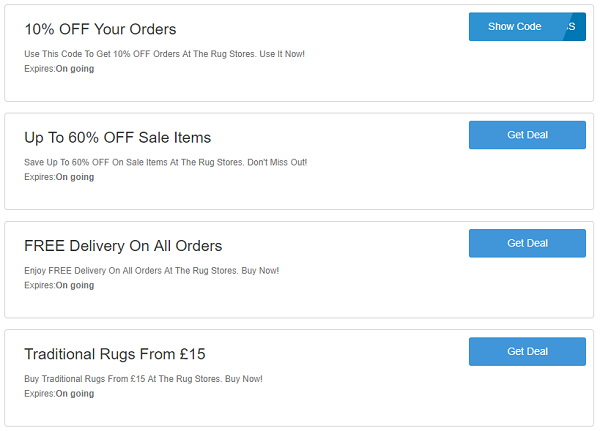 The Rug Stores discount codes