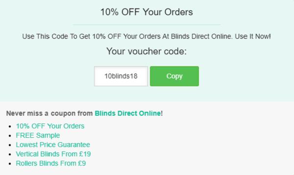 Blinds Direct voucher code