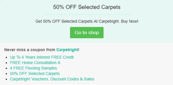 Carpetright discount code