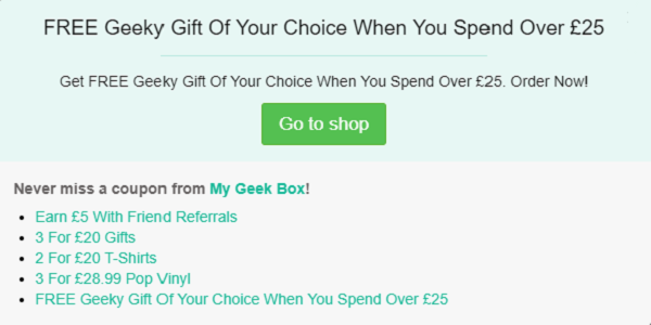 My Geek Box discount code