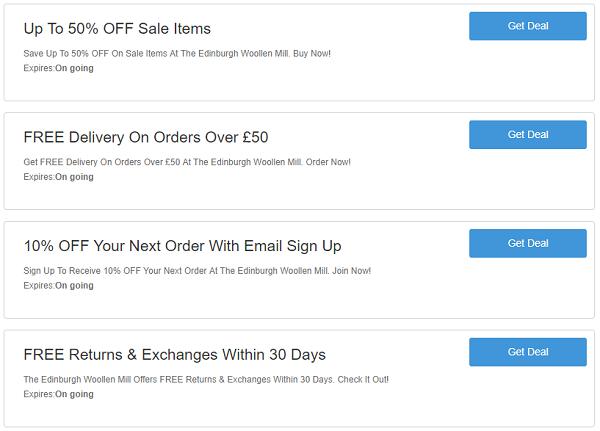 The Edinburgh Woollen Mill discount codes