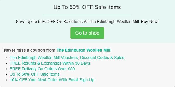 The Edinburgh Woollen Mill discount code