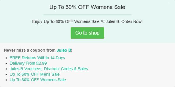Jules B discount code