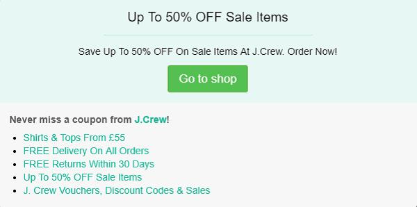 J.Crew discount code