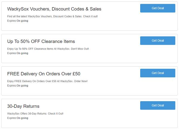 Wackysox discount codes