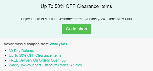 Wackysox discount code