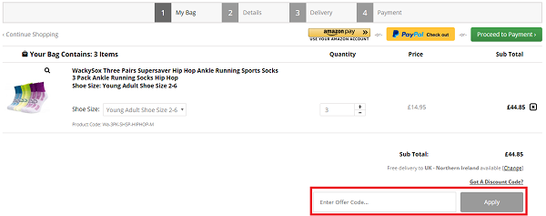 Wacky Sox discount code